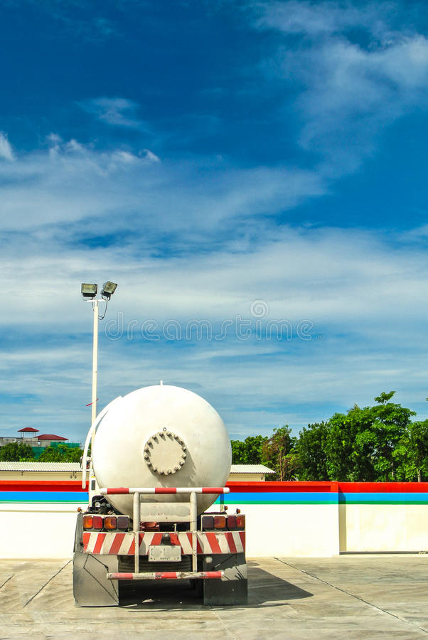 Gas truck parking . royalty free stock images