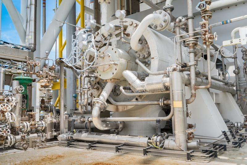 Gas turbine compressor, centrifugal and multi stage type. royalty free stock images