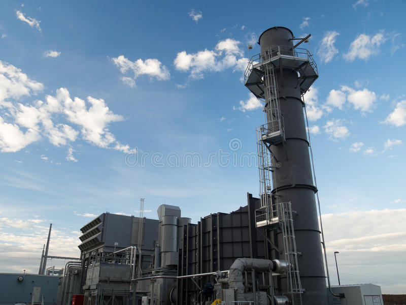 Gas turbine power plant royalty free stock photography
