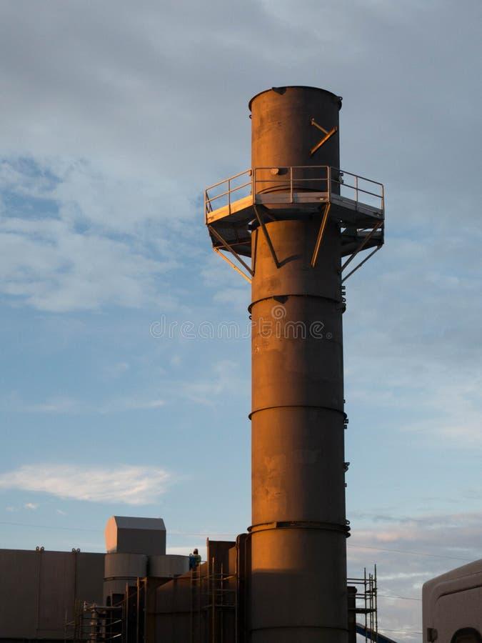 Gas turbine stack stock image