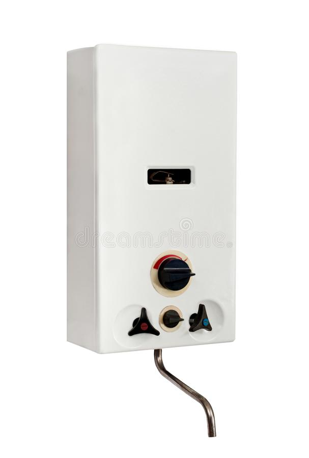 Gas water heater stock photography