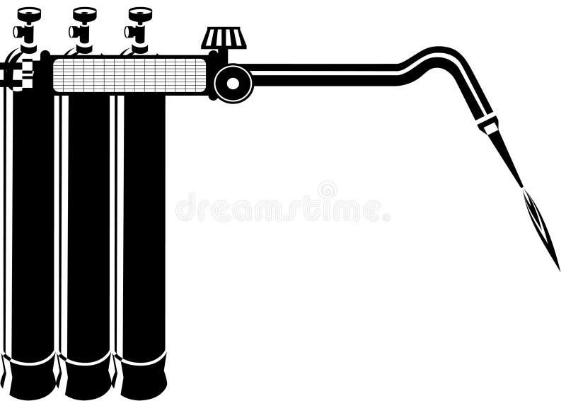 Download Gas welding stock vector. Illustration of white, welding - 26064207