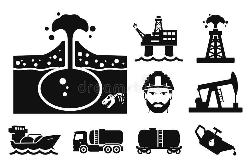 Gas y aceite ilustración del vector