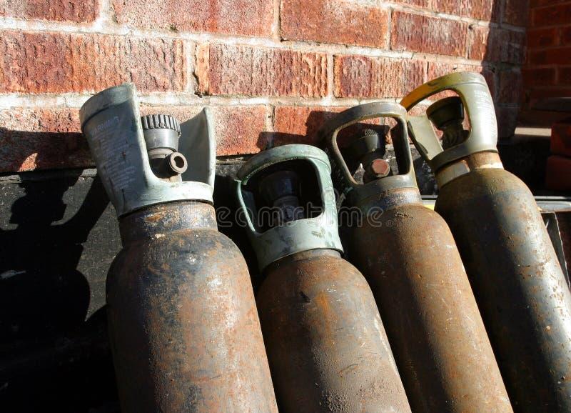 Gas-Zylinder Stockbild