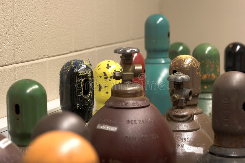 Gasbehälter stockbild