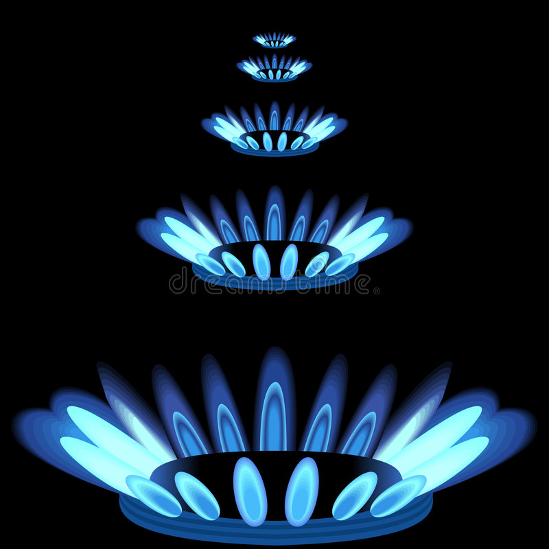 gasbrännare royaltyfri illustrationer