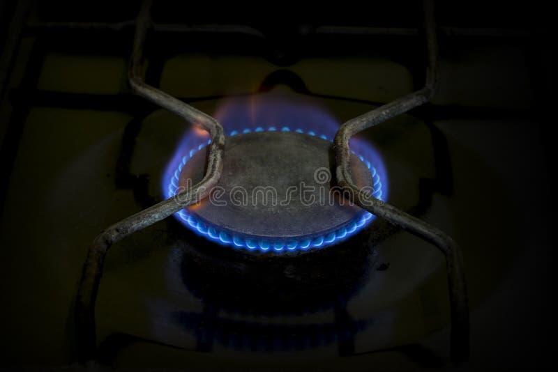 Gasbrännare på arkivfoto