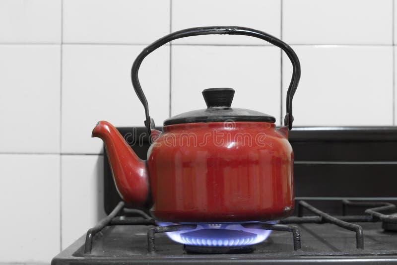 Gasbrännare på royaltyfria bilder