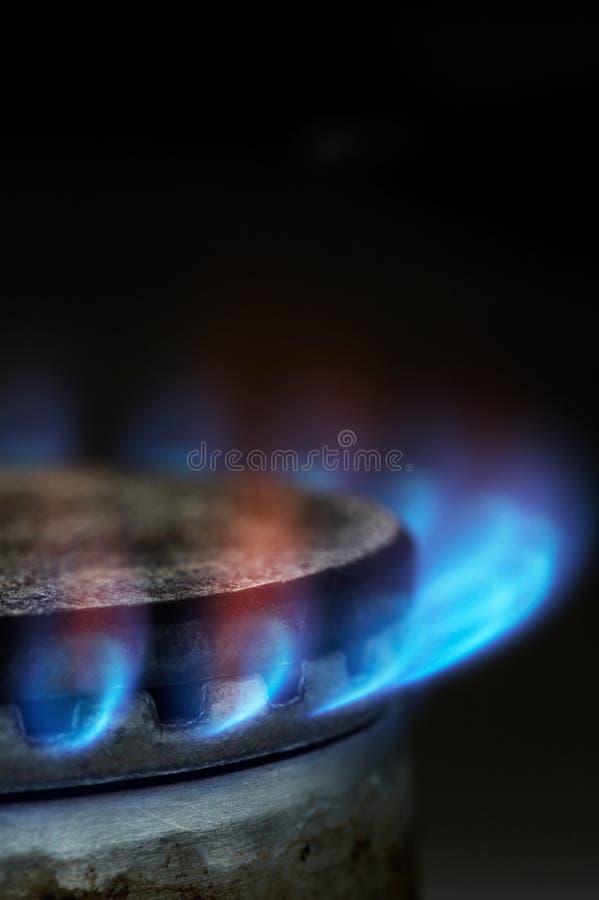 Gasburning arkivfoto