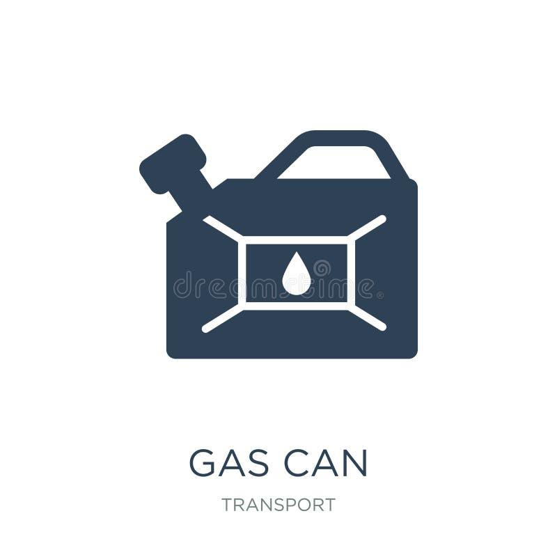 Gasdosenikone in der modischen Entwurfsart E Gas kann einfaches und modernes flaches Symbol der Vektorikone lizenzfreie abbildung