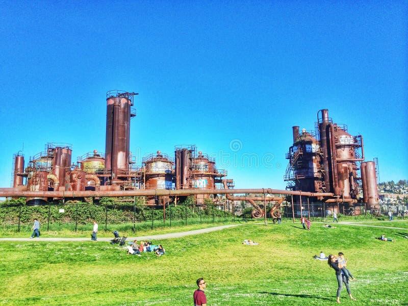Gasfabriekenpark stock afbeelding