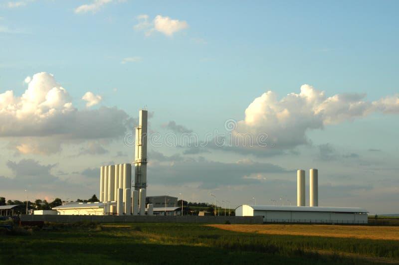 Gasfabrik lizenzfreie stockfotos