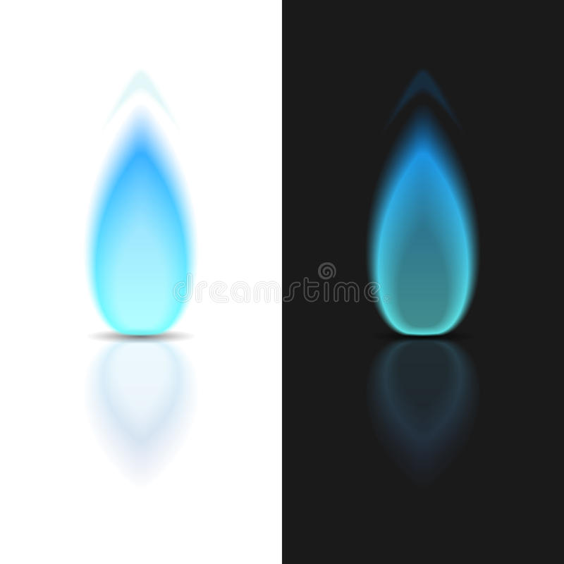 Gasflamma stock illustrationer