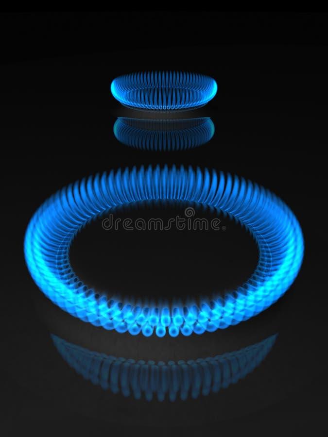 Gasflammen stock abbildung