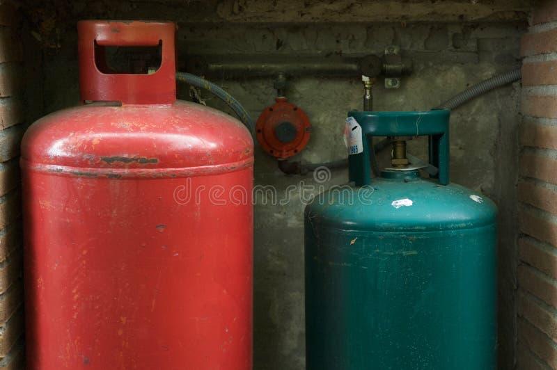 Gasfles stock afbeelding