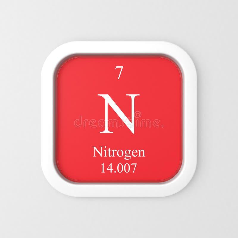 Gasformigt grundämnesymbol på röd rundad fyrkant stock illustrationer