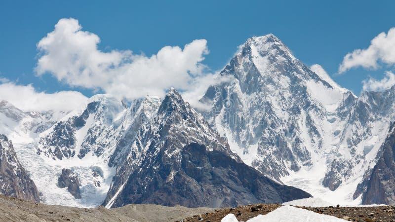 Gasherbrum dropp, Karakorum, Pakistan royaltyfria bilder