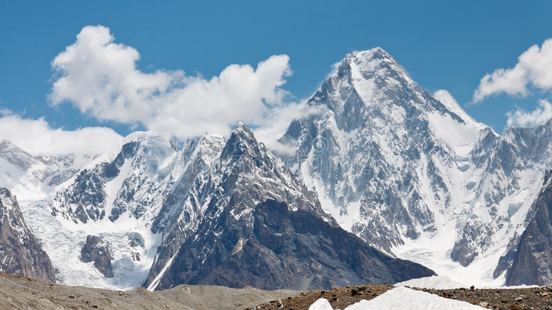 Gasherbrum IV, Karakorum, Pakistan royalty free stock images