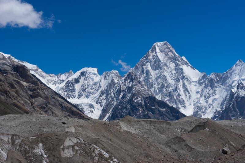Gasherbrum masywu góra, Karakorum pasmo górskie, K2 wędrówka, P obrazy stock
