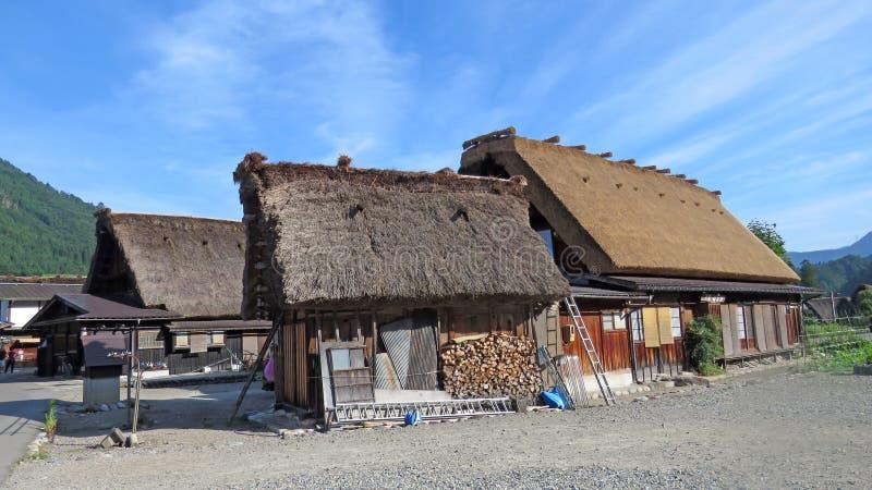 Gasho房子在白川町在日本进来 库存照片