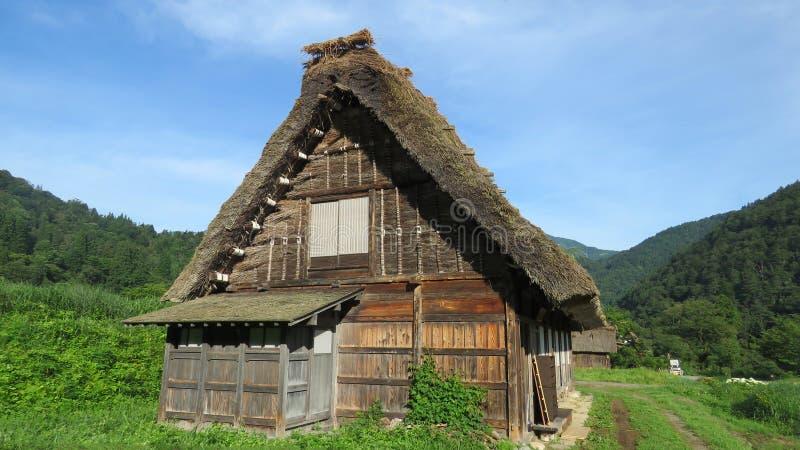 Gasho房子在Gokayama在日本 库存照片