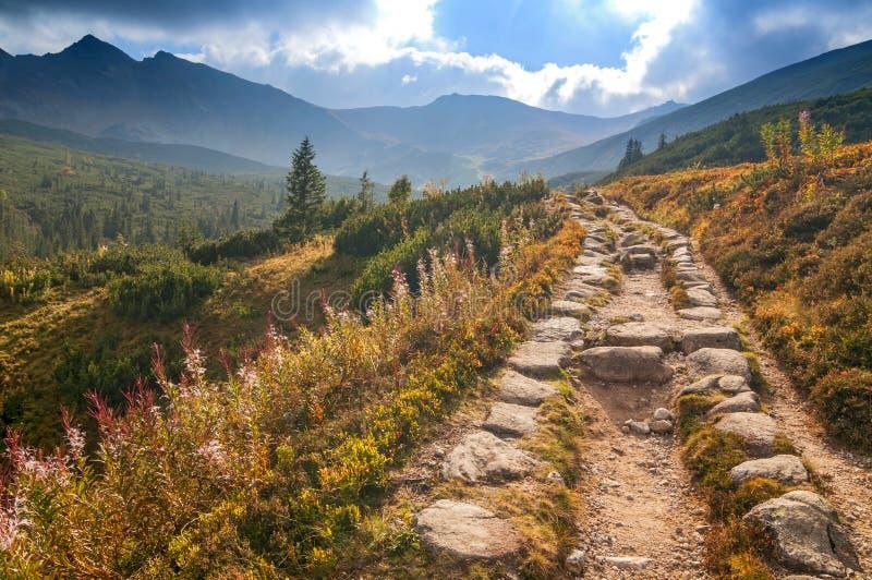Gasienicowa谷,高Tatras,波兰看法  库存图片