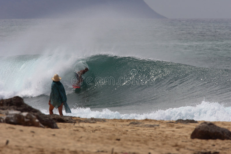 Download Gaskammern stockfoto. Bild von tourist, surfer, oahu, ufer - 37076