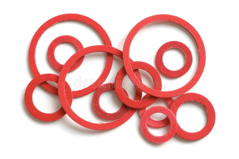 Gaskets. Isolated on white background stock photo