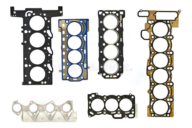 Gaskets for the engine block of car. Gaskets for the engine block of the car stock images