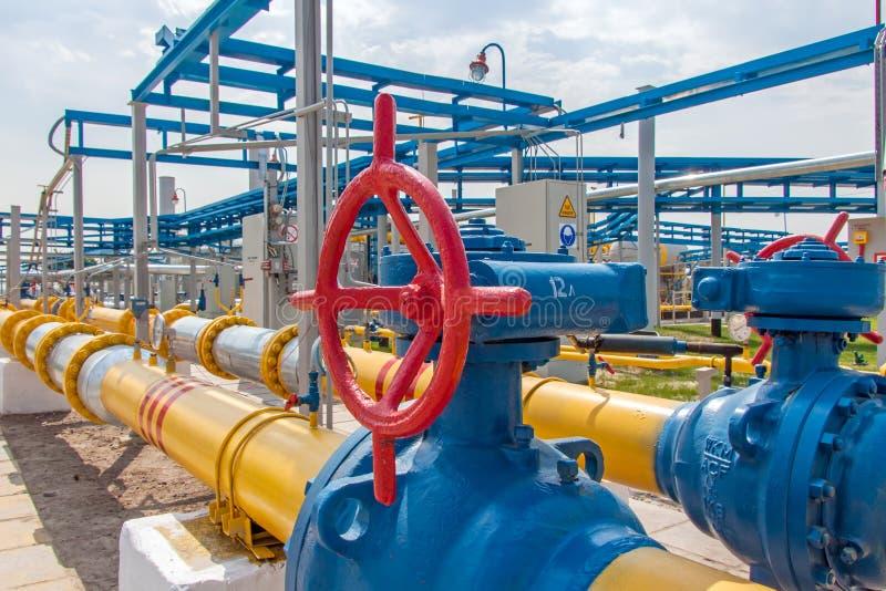 Gaskompressorstation lizenzfreies stockbild
