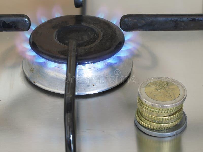 Gaskosten stock afbeelding