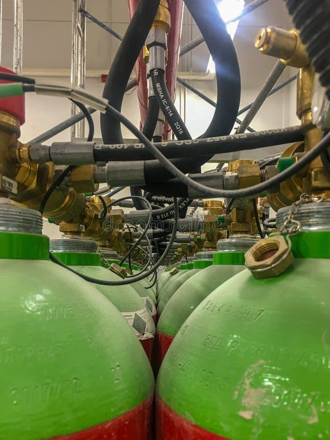 Gaslagringsbehållare arkivbild