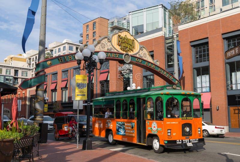 Gaslamp ćwiartka San Diego Kalifornia fotografia royalty free