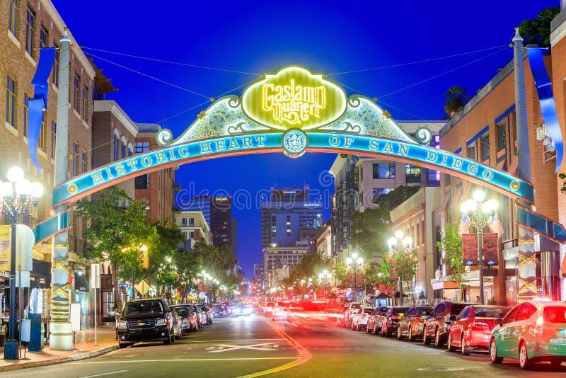 Gaslamp ćwiartka w San Diego, Kalifornia, zdjęcie stock
