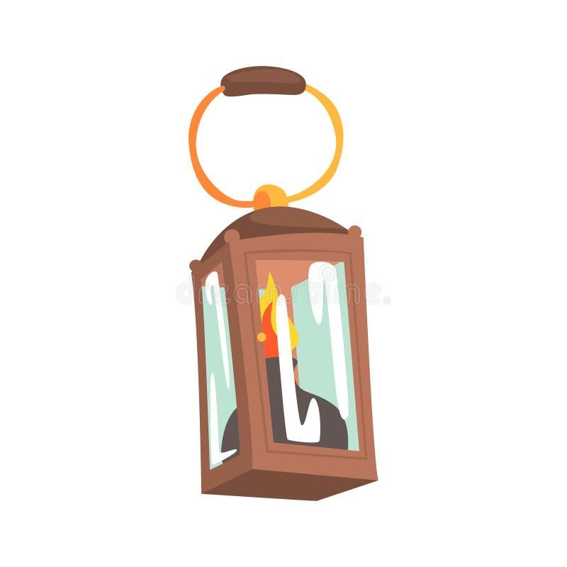 Gaslamp, het beeldverhaal vectorillustratie van het mijnbouwmateriaal stock illustratie