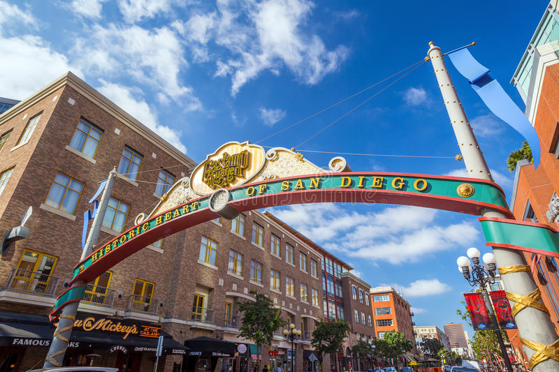 The Gaslamp Quarter in San Diego, California royalty free stock images