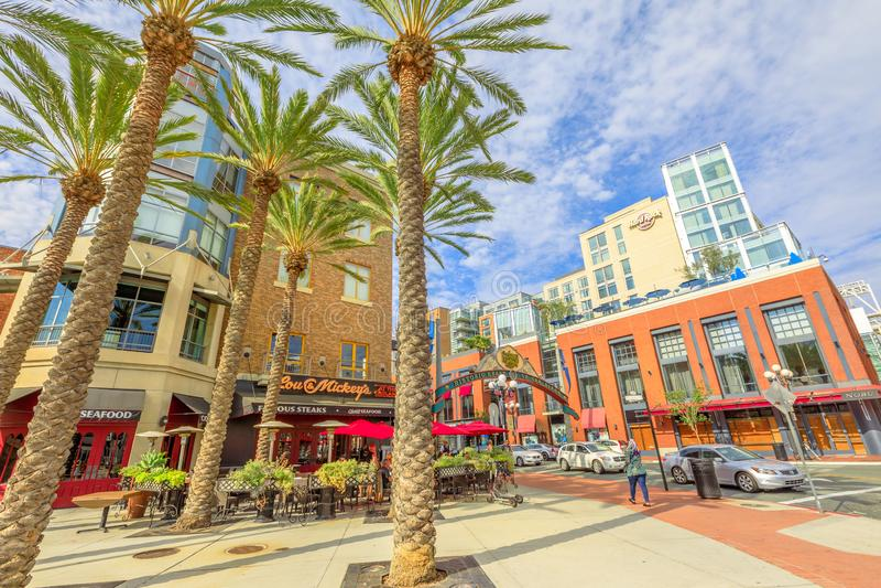 Gaslamp Quarter San Diego royalty free stock photo