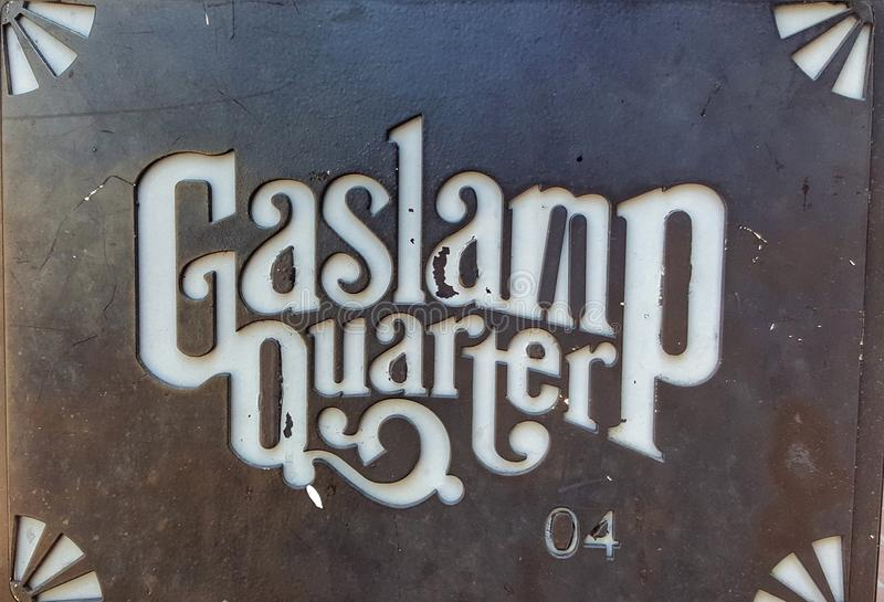 Gaslamp-Viertel stockfotos