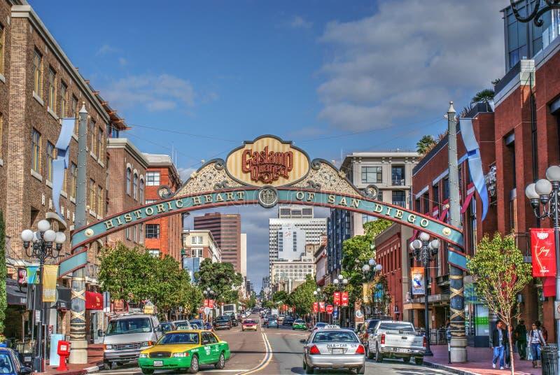 Gaslamp-Viertel, San Diego lizenzfreie stockfotos