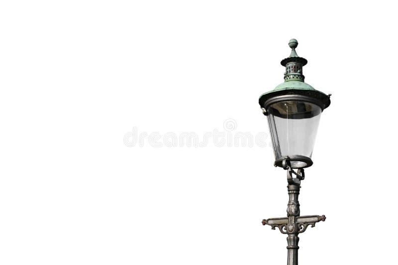 Gaslight on White stock photos