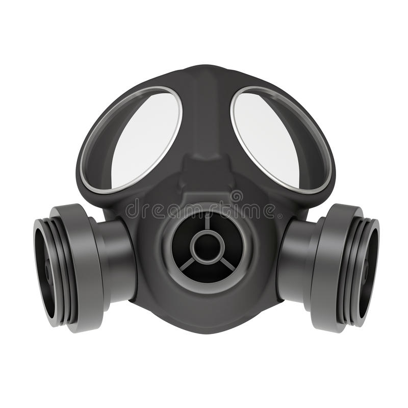 Gasmask royaltyfri illustrationer