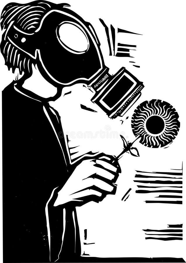 Gasmaske lizenzfreie abbildung