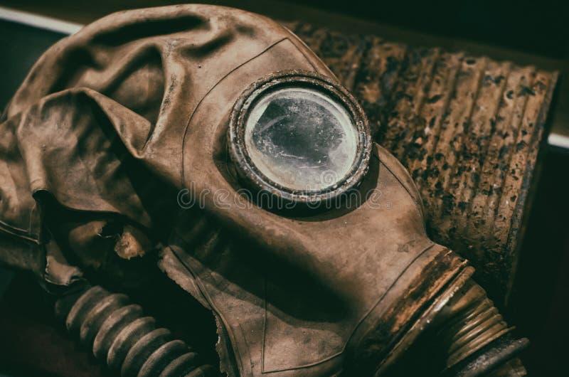 Gasmasken arkivbilder