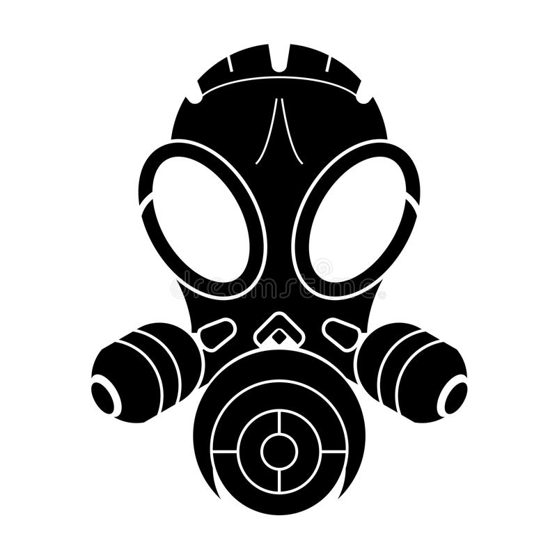 Gasmasker royalty-vrije illustratie