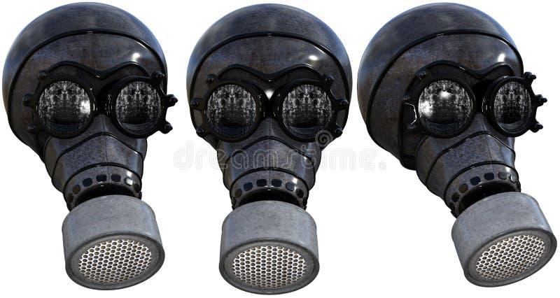 Gasmaskillustration som isoleras royaltyfri fotografi