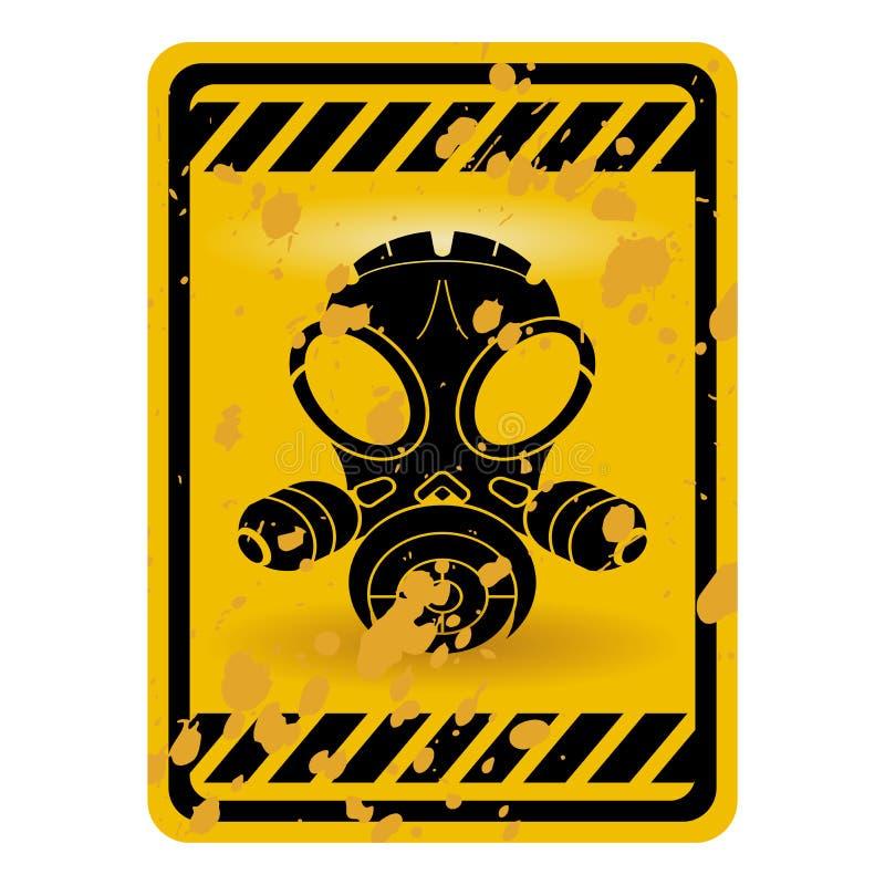 gasmasktecken royaltyfri illustrationer
