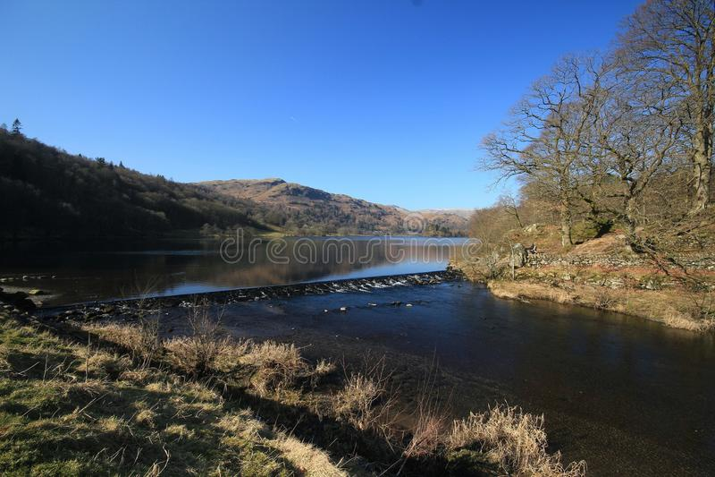 Grasmere湖。 Grasmere Cumbria。 英国. 库存照片