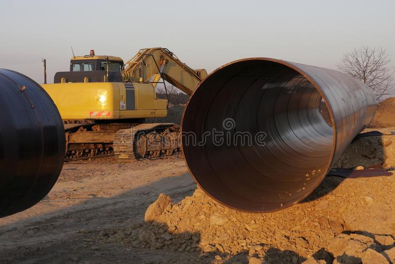 Gasoduto fotografia de stock