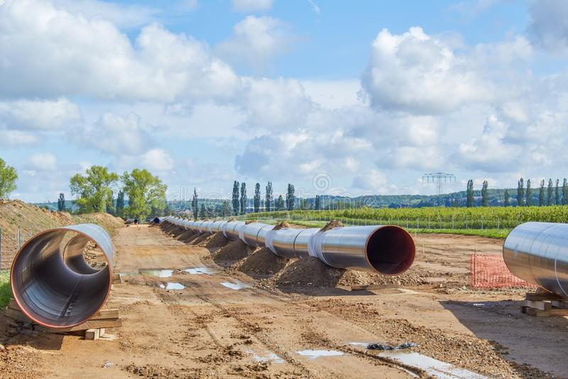 Gasoduto de Nord Stream2 fotografia de stock royalty free