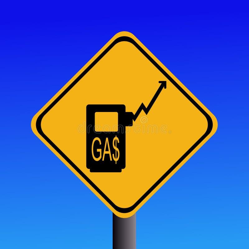 A gasolina de aumentação fixa o preço do sinal ilustração do vetor